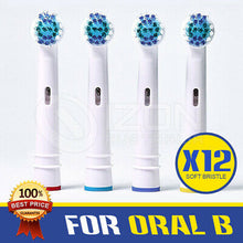 Load image into Gallery viewer, 12X Oral B Compatible Electric Toothbrush Replacement Brush Heads- FLOSS ACTION
