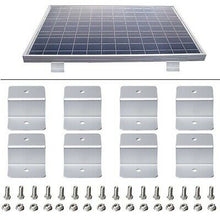 Load image into Gallery viewer, 8pcs Solar Panel Mounting Kits Z Brackets Aluminum Alloy Fits 4WD Boat Home