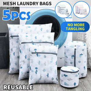 Set of 5 Size Laundry Wash Bags Delicates Bra Lingerie Mesh Clothes Washing Case