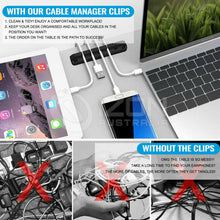 Load image into Gallery viewer, USB Charge Cable Clips Self-Adhesive Desk Cord Management Organizer Wire Holder