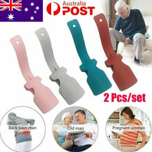 Load image into Gallery viewer, 1Pair Lazy Shoe Helper Unisex Handled Shoe Horn Easy on & Off Shoe Lifting Aus
