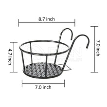 Load image into Gallery viewer, 3x Hanging Railing Planter Iron Baskets Flower Pot Holder Planters Assemble