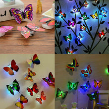 Load image into Gallery viewer, 3DWall Sticker LED Butterfly Decoration Night Light Indoor Home Wall Decor Party