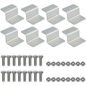 8pcs Solar Panel Mounting Kits Z Brackets Aluminum Alloy Fits 4WD Boat Home