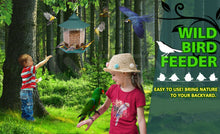 Load image into Gallery viewer, Hanging Bird Feeder Garden Wild Seed Container Waterproof Gazebo Shape Outdoor
