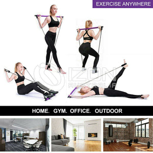 VIVVA Exercise Pilates Bar with Resistance Band Pilates Stick Toning Portable