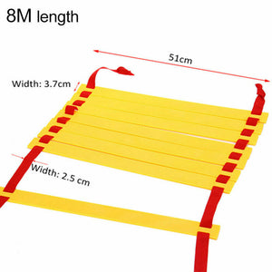 10M Agility Speed Sport Trainning Ladder Soccer Fitness Boxing 21 Rungs&Bag Gym