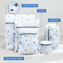 Load image into Gallery viewer, Set of 5 Size Laundry Wash Bags Delicates Bra Lingerie Mesh Clothes Washing Case