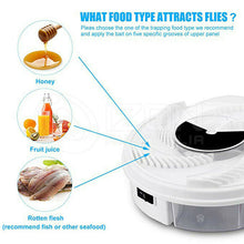 Load image into Gallery viewer, Insect Killer Fly Trap Electric Catcher Bug with Trapping Food -White USB Cable