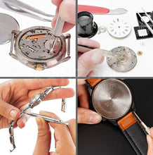 Load image into Gallery viewer, Watch Repair Tool Kit Watchmaker Back Case Opener Spring Pin Bars Remover