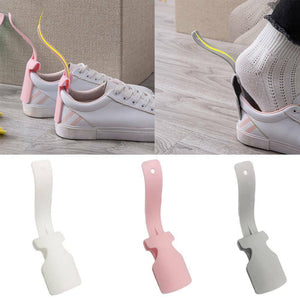1Pair Lazy Shoe Helper Unisex Handled Shoe Horn Easy on & Off Shoe Lifting Aus
