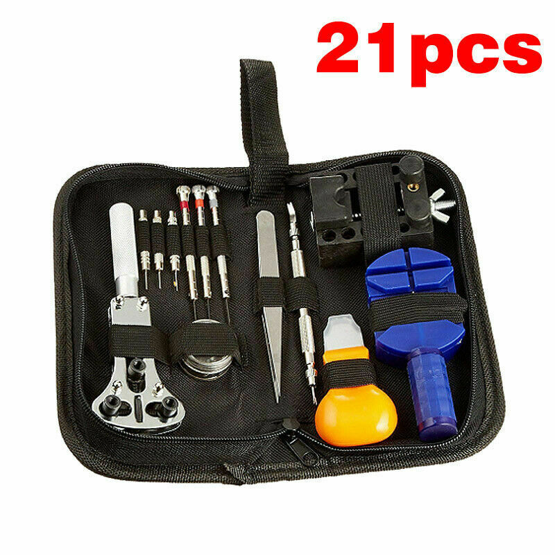 Watch Repair Tool Kit Watchmaker Back Case Opener Spring Pin Bars Remover