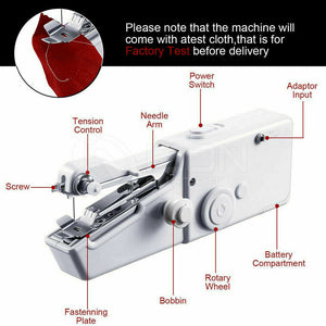Portable Cordless Handheld Sewing Machine Stitch Home Mini Clothes Free Post
