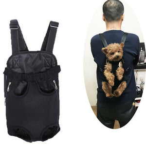 Dog Carrier Backpack Cat Puppy Pet Front/Back Shoulder Carry Sling Bag Pouch
