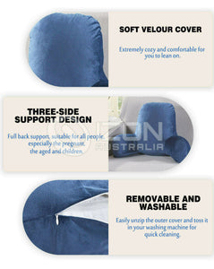 Back Rest Support Pillow Reading Pillow Cushion Pregnant Seat Chair Home Office