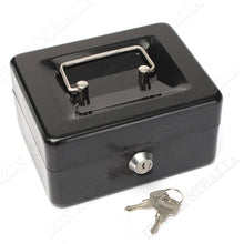 Load image into Gallery viewer, Cash Box Safe Storage Metal Lock Security Key/Code Lock Children Gift Toy