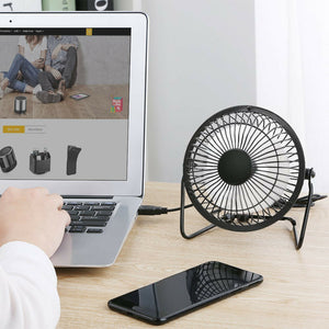 4/6 inch 360°Portable USB mini Portable Desktop Cooling Desk Quiet Fan Computer