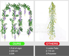 Load image into Gallery viewer, Hanging Artificial Silk Wisteria Fake Garden Flowers Plants Vines Decor Eyeful