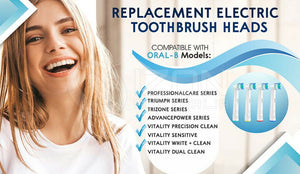 12X Oral B Compatible Electric Toothbrush Replacement Brush Heads- FLOSS ACTION