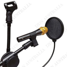 Load image into Gallery viewer, Recording Studio Microphone Mic Wind Screen Pop Filter Mask Shield Double Layer