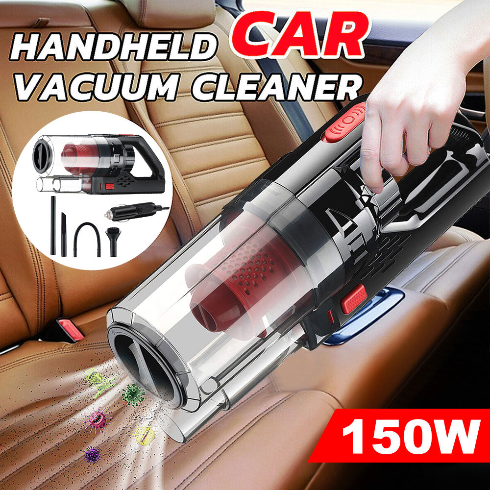 Handheld Car Vacuum Cleaner Powerful Suction Multifunctional Portable Duster 12V