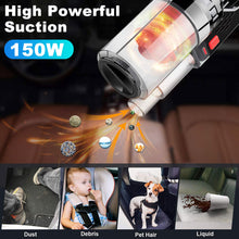Load image into Gallery viewer, Handheld Car Vacuum Cleaner Powerful Suction Multifunctional Portable Duster 12V