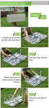 Load image into Gallery viewer, Foldable Picnic Table for camping