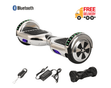 "Load image into Gallery viewer, 6.5"" Wheel Hoverboard Self Balancing Scooter - Silver Chrome Colour"