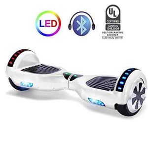 "6.5"" Wheel Hoverboard Self Balancing Scooter - White"