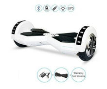"Load image into Gallery viewer, 8"" Wheel Lamborghini Style Hoverboard Scooter - White Colour"