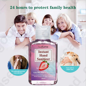 Hand Sanitiser - 75% Alcohol Anti-Bacterial Sanitiser - 60ml - Pack of 10