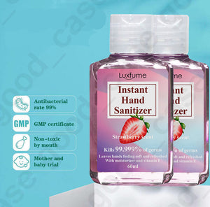 Luxfume® Hand Sanitizer - 75% Alcohol Anti-Bacterial Sanitizer - 60ml - Pack of 3