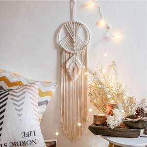 Nordic Star Moon Macrame Dream Catcher Room Decoration Boho Room Decor  Girls Kids Room Nursery Gifts