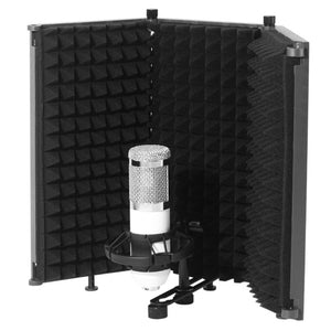 Foldable Microphone Acoustic Isolation Shield Acoustic Foams Studio Panel for