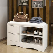 Load image into Gallery viewer, 2 Layers Shoe Rack Shoes Bench Storage Cabinet Shoe Organizer Multifunctional