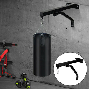Training Hanging Punch Boxing Bag Stand Rack Holder Steel Wall Mount Bracket AU