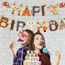 Load image into Gallery viewer, 95PCS Supplies Set Woodland Decorations Including Happy Birthday