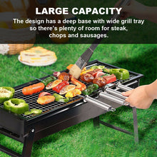 Load image into Gallery viewer, Foldable Charcoal BBQ Grill Portable Garden Barbecue Camping Hibachi Picnic Set