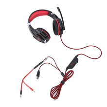 Load image into Gallery viewer, Red Gaming Headset LED MIC Adjustable Headphones for Mac Laptop PS4 Xbox One AU
