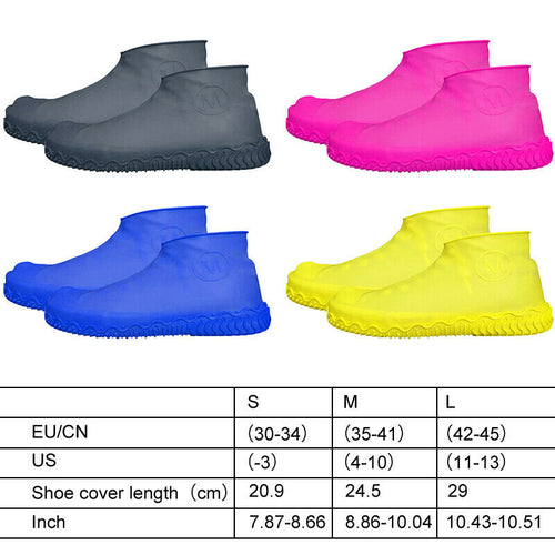 1 Pair Reusable Shoes Covers Waterproof Silicone Shoes