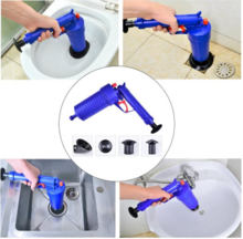EASY UNCLOGS SINKS AND TOILETS WITH A TRIGGER