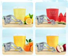 Load image into Gallery viewer, Manual Stainless Steel Mini Citrus Juicer