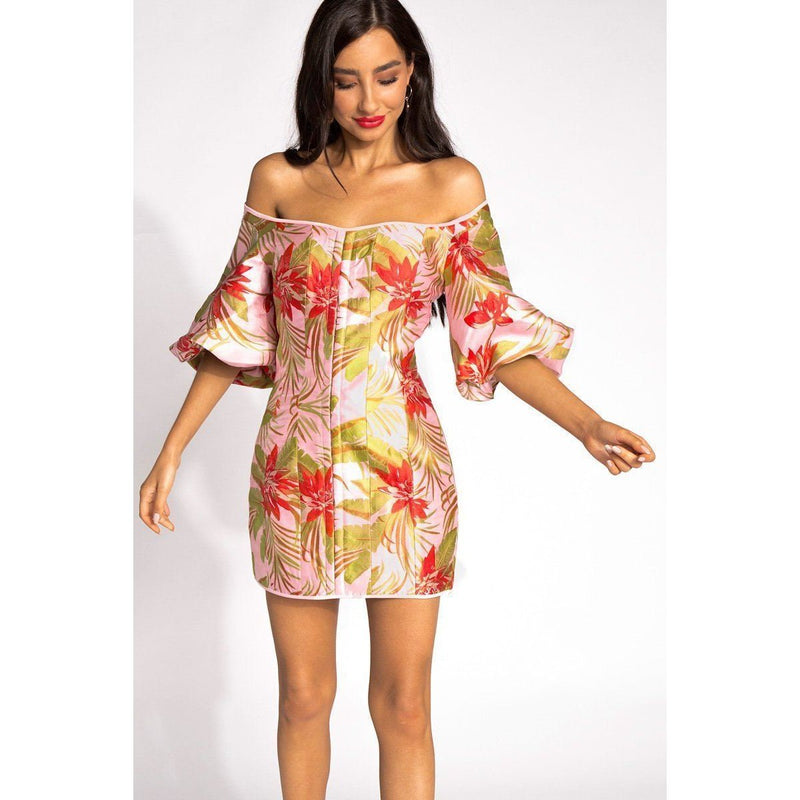 FINDERS KEEPERS VOYAGER DRESS - PINK FLORAL