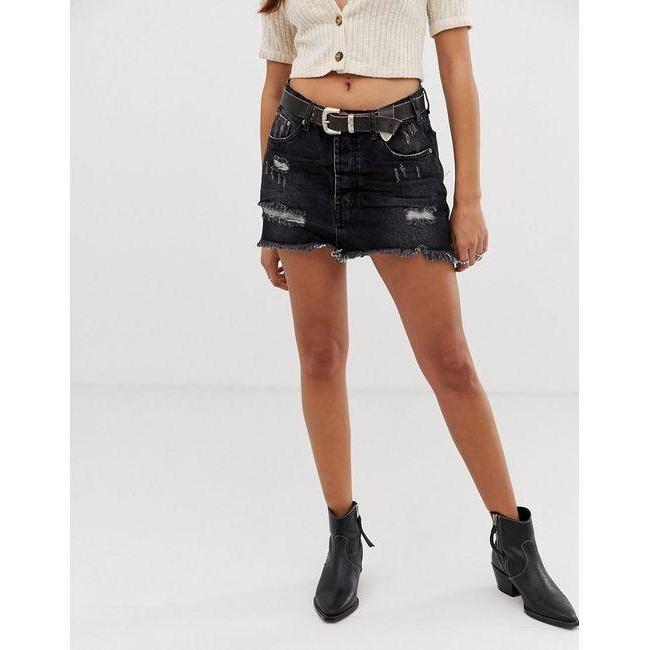 ONE TEASPOON BLACKSEA JUNKYARD DENIM SKIRTS