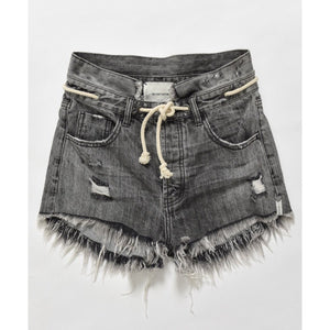 ONE TEASPOON OPIUM OUTLAWS MID LENGTH DENIM SHORTS