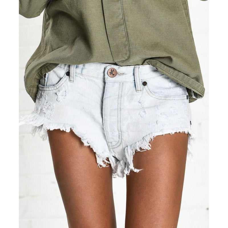 ONE TEASPOON XANTHE ROLLERS DENIM SHORTS