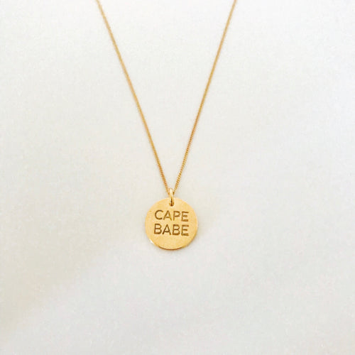 Cape Babe Coin Necklace