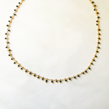 Load image into Gallery viewer, Black rain necklace