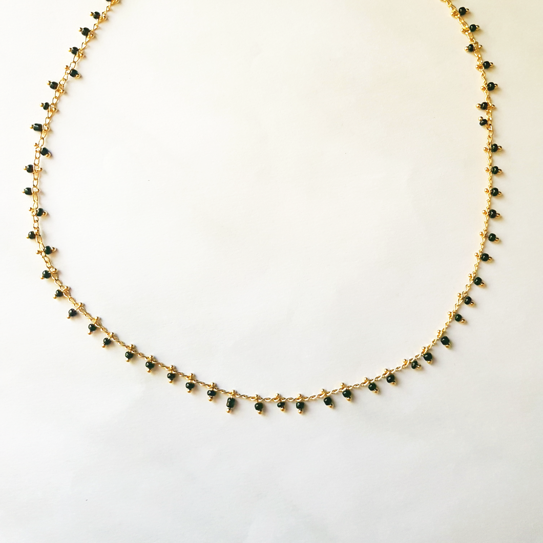 Black rain necklace