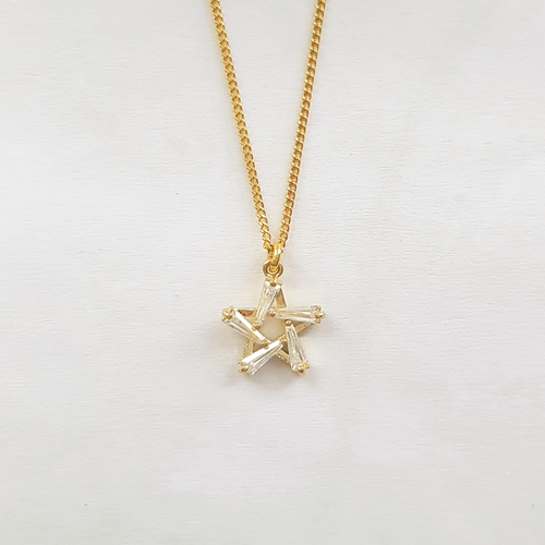 Star Baguette Necklace